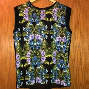 Patterned tank top blouse